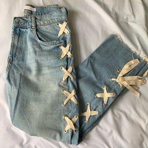 Zara Ribbon Jeans